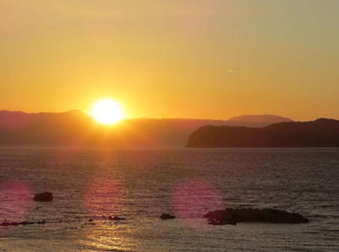 Sončni zahod (najverjetneje Kreta)