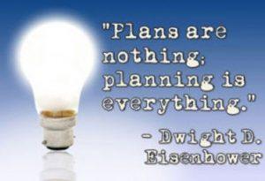Plani niso nič - planiranje je vse.